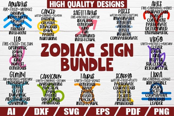 Zodiac Sign Bundle - Zodiac traits - Horoscop - Astroligy