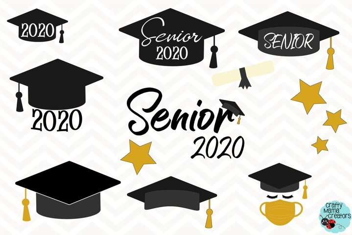 Senior 2020 SVG, Quarantine Graduation, Face Mask Senior
