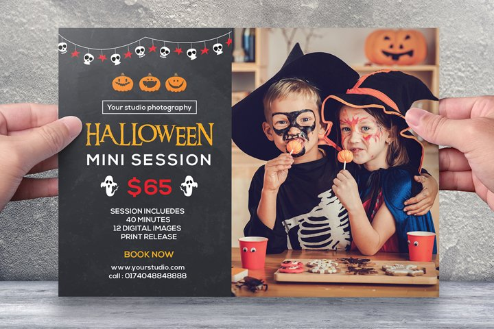 Halloween Photography Mini Session Template