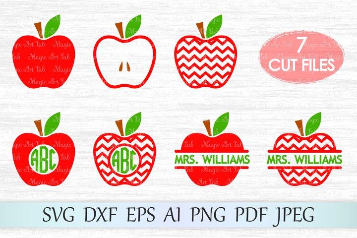 Apple SVG, Teacher svg, Back to school svg, Chevron apple