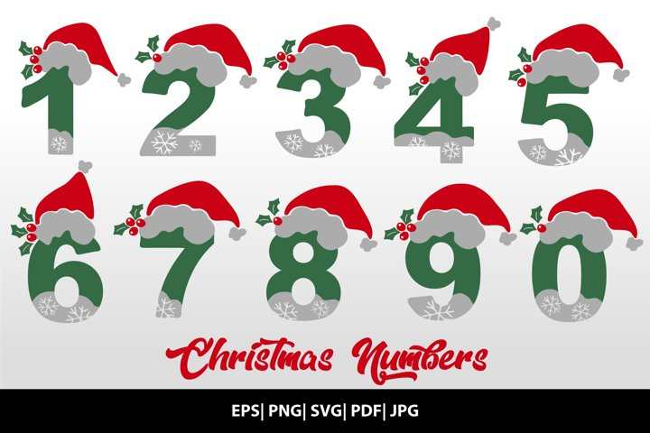 Christmas Web Numbers, Christmas Numbers SVG Cut file
