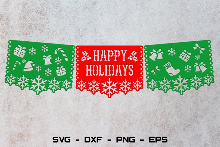 Happy holidays banner svg, Christmas banner svg