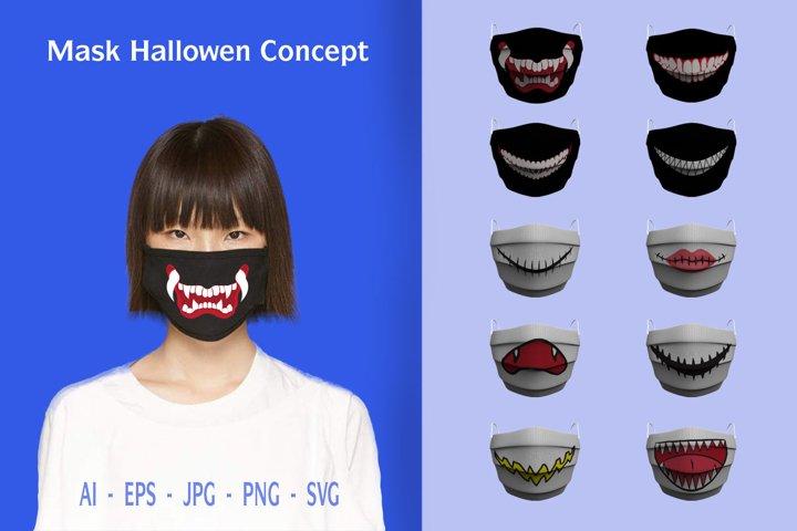 Mask Themes Halloween concept