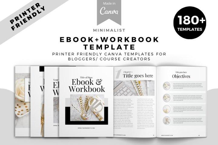 Minimalist Mega Workbook Canva Template. Workbook, Canva Tem