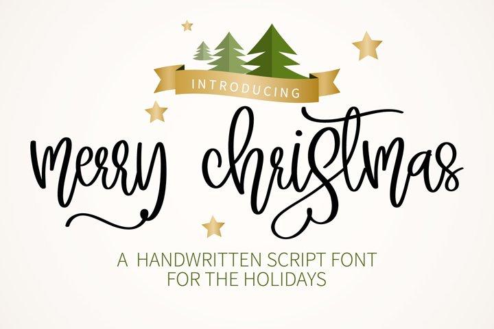 Merry Christmas - A sweet script handwritten font