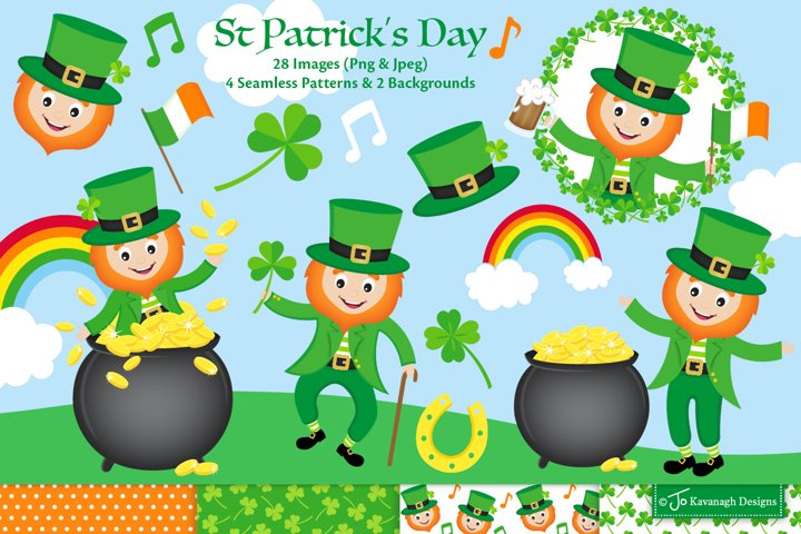 St Patricks Day clipart, st patricks day graphics C44