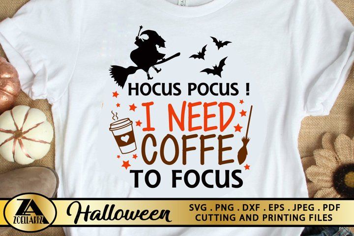Halloween SVG PNG EPS DXF Hocus Pocus SVG Coffee Cut Files