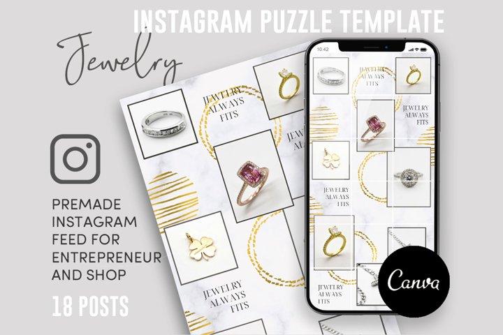 Jewelry Addict, Instagram Puzzle Feed, 18 Posts