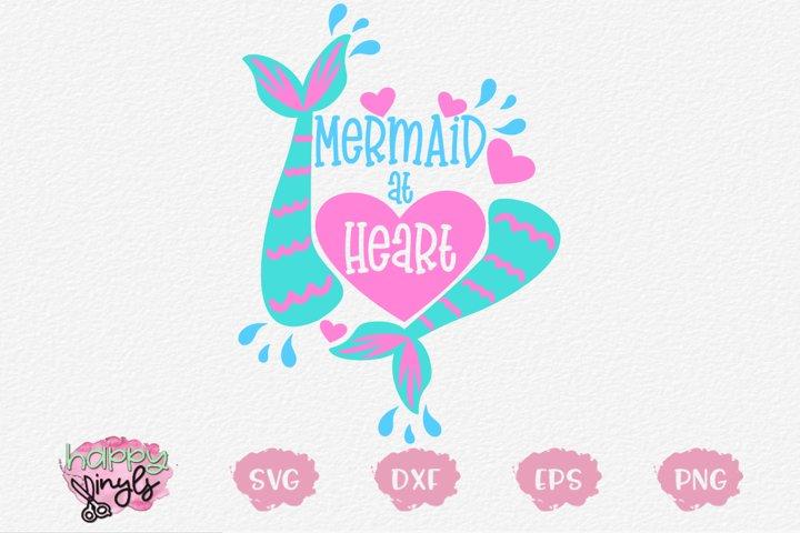 Mermaid At Heart - A Mermaid SVG