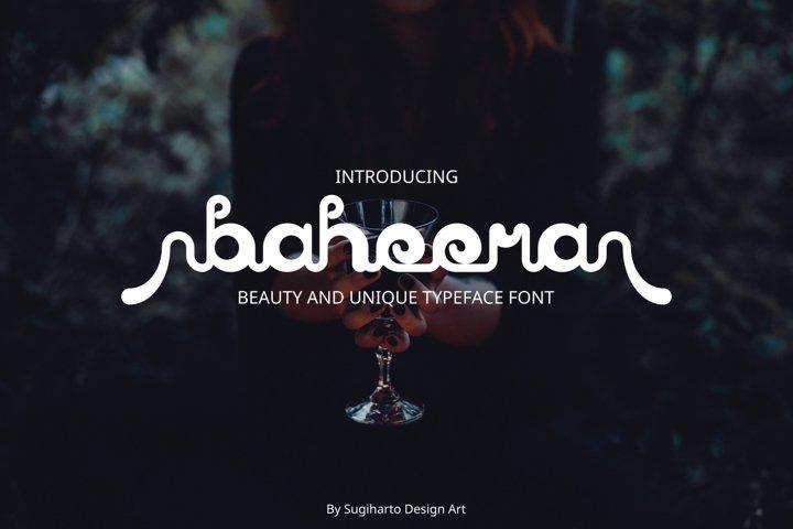 baheera unique font