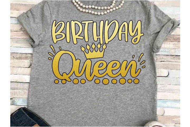 Birthday SVG DXF JPEG Silhouette Cameo Cricut Queen Crown