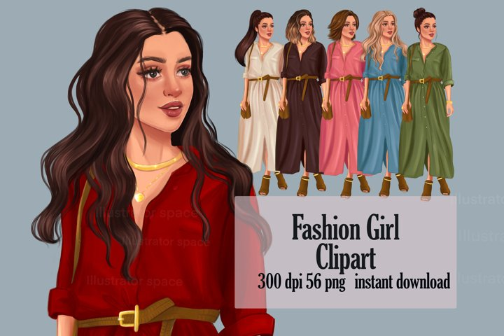Fashion girl illustration PNG, Fashion girl clipart