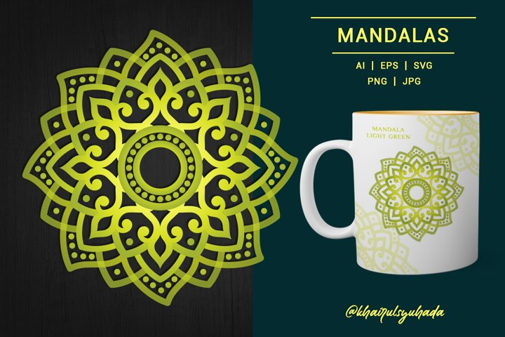 Mandala Light Green