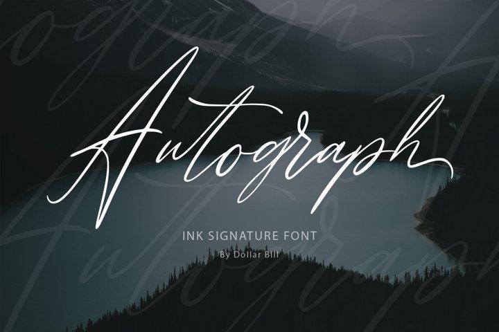 Autograph. Casual signature font.