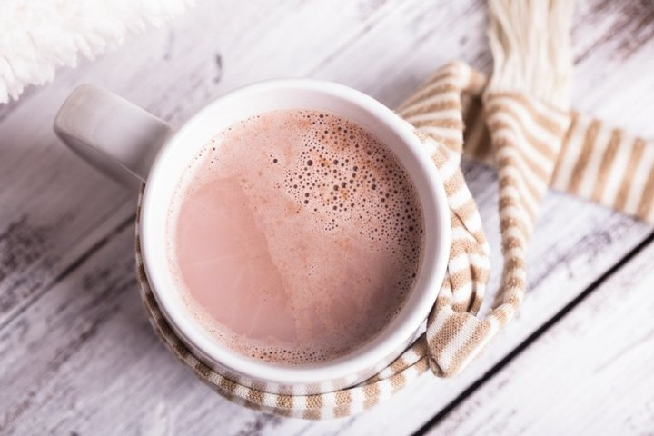 cup of cocoa with milk