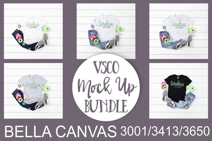 Bella Canvas VSCO Themed Mock Up Bundle