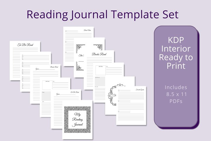 Reading Journal Template Set