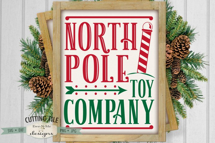 North Pole Toy Company SVG | Christmas Sign SVG