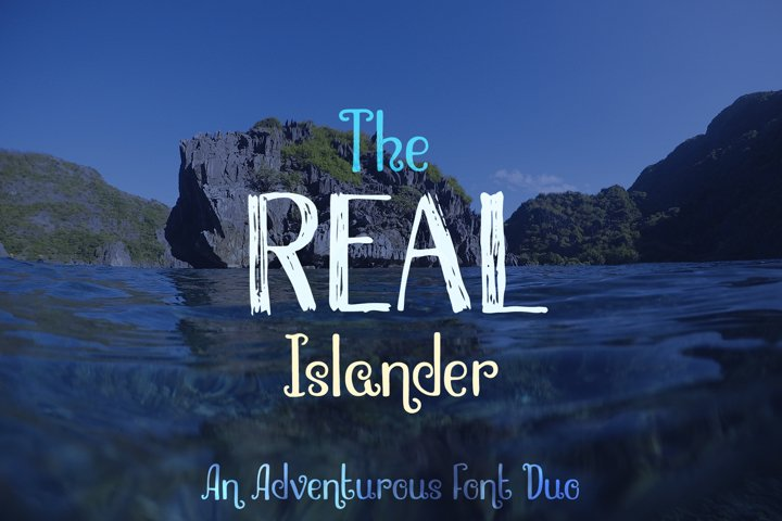 The Real Islander Grungy & Whimsical Font Duo