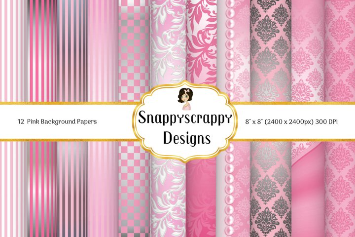 Pink & Silver Backgrounds