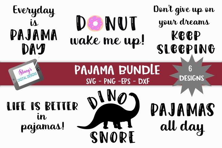 Pajama Bundle - SVG - 6 Pajama SVG Designs