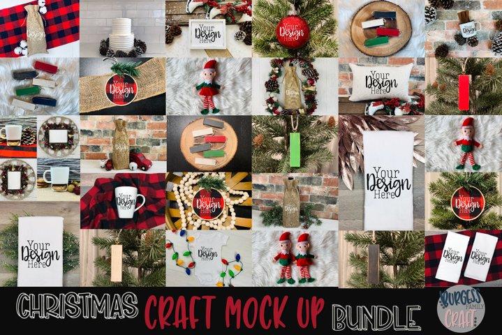 Christmas craft mock up bundle |High Res JPEG