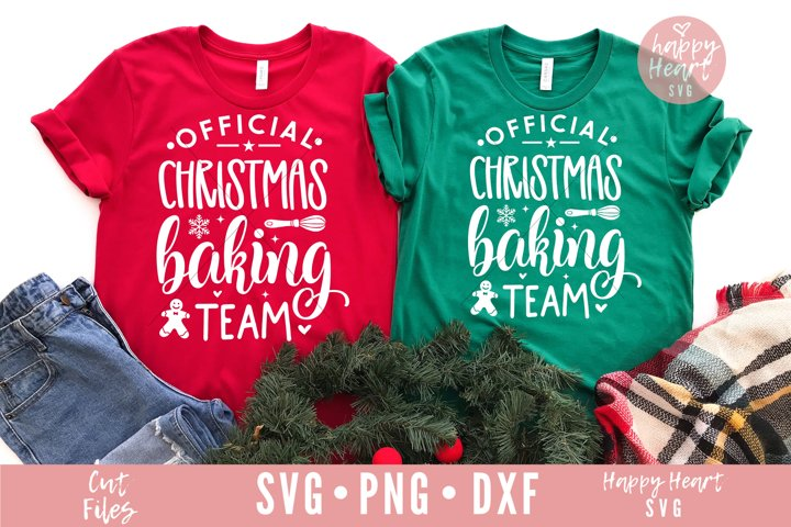 Official Christmas Baking Team SVG