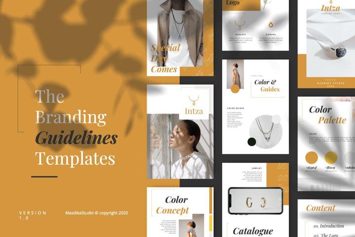 INTZA - Luxury Keynote Brand Guidelines Template