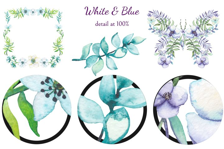 White and Blue example 7