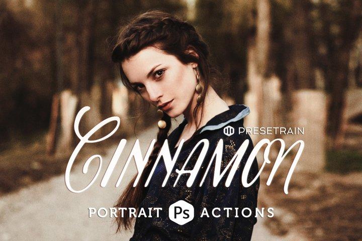 Cinnamon Portrait Actions for Adobe Photoshop