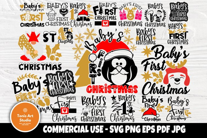 Babys First Christmas SVG Bundle, Svg Cut Files, Shirts Svg
