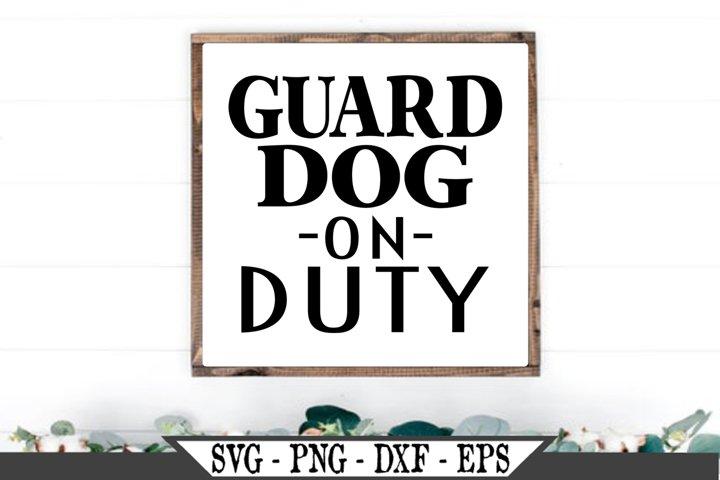 Guard Dog On Duty SVG
