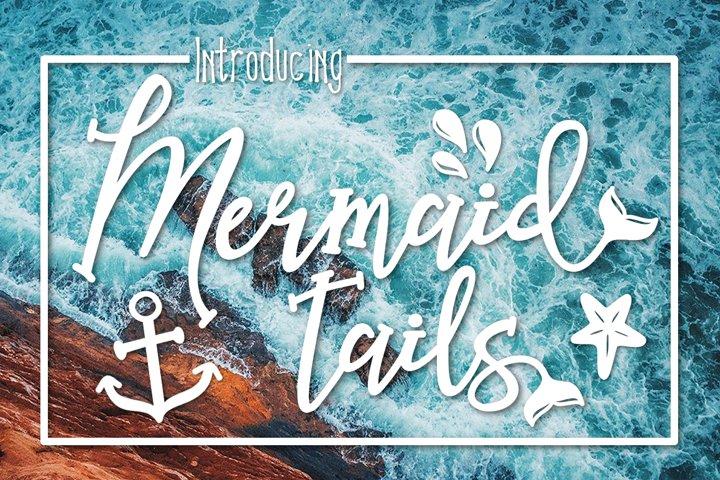 Mermaid Tails a Handwritten Typeface