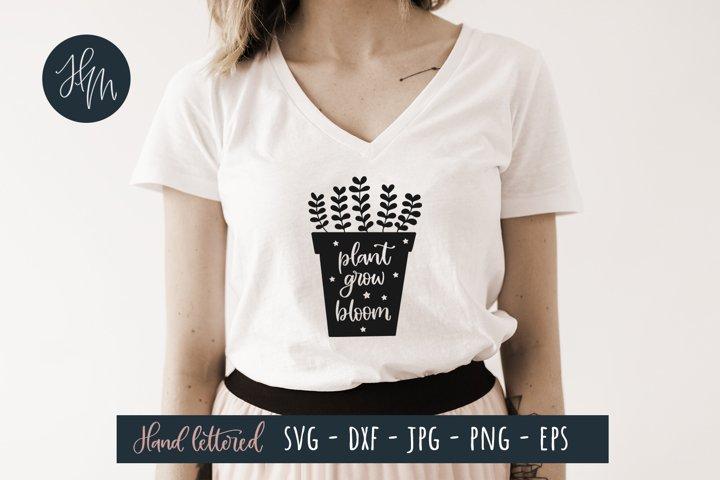 Plant grow bloom SVG cut file