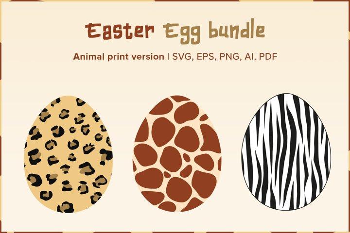 Easter Egg Bundle  Animal Print Version