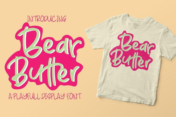 Bear Butter Font