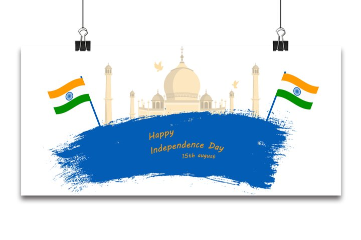 Indian Independence Day concept background with Ashoka wheel