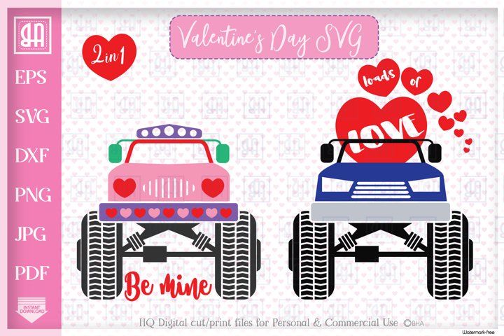 Valentines truck svg - Valentines day Truck bundle mini