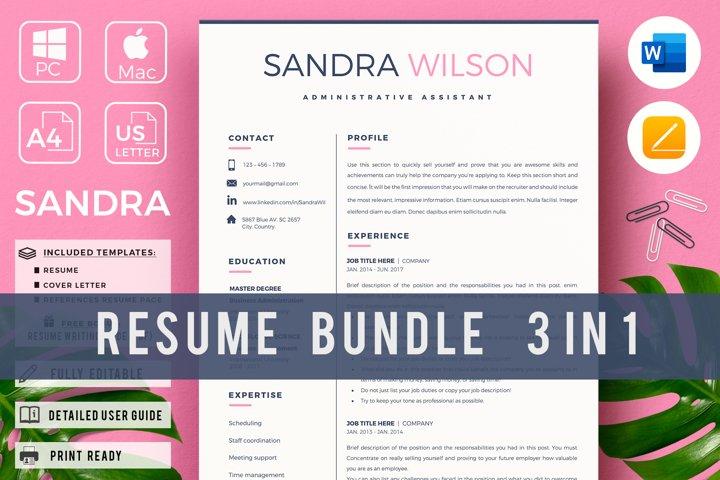 Creative Resume CV Bundle. Secretary resume examples