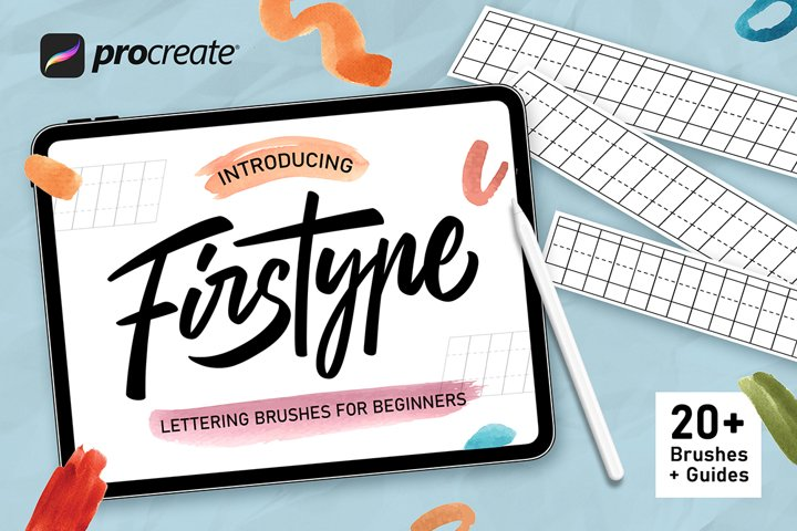 Firstype Procreate Lettering Brushes for Beginners