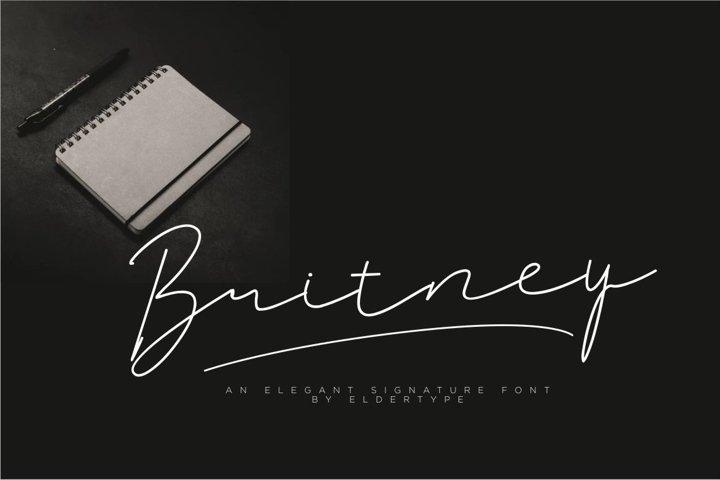 Britney Signature Font