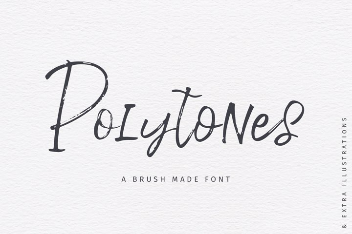 Polytones   A Brush Made Font