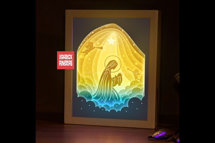 #182 Maria Mother - Jesus Christmas 3D Shadow box Template