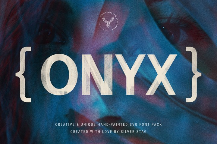 ONIX - Hand-Painted SVG 6 Font Pack