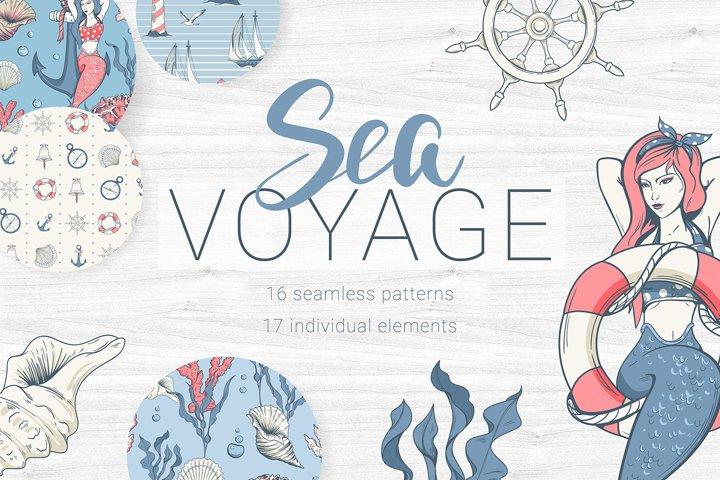 Sea voyage. Big bundle