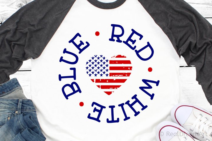 Red White and Blue SVG, DXF, PNG, EPS