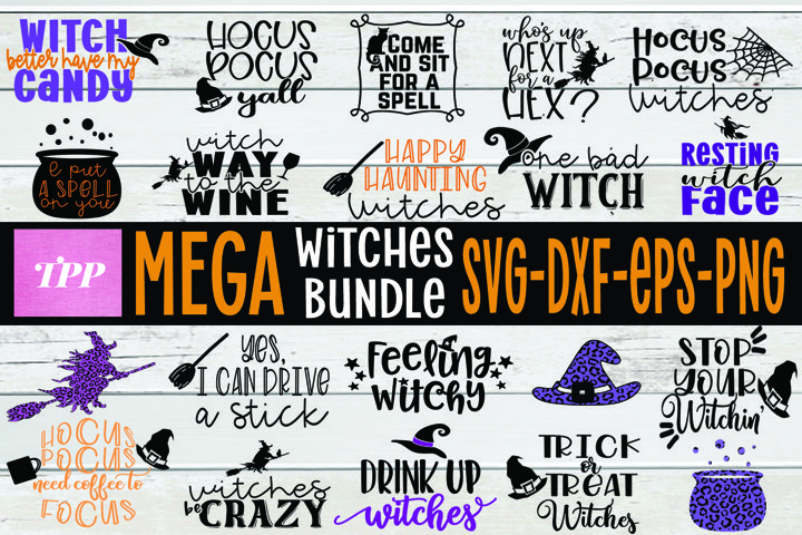 Witches SVG bundle, Halloween Cut Files BUNDLE, Witch svgs