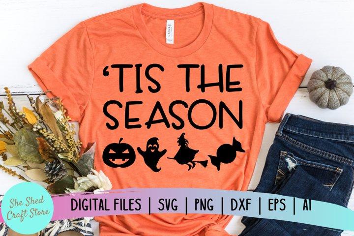 Tis The Season Halloween SVG, Halloween Quote Svg, Fall SVG