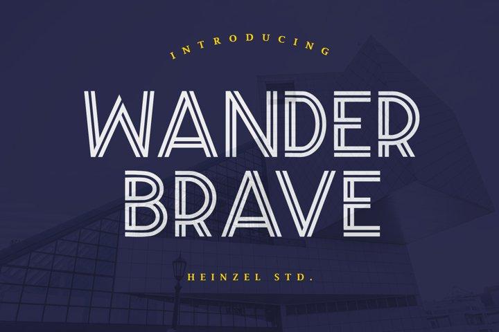 Wander Brave Typeface
