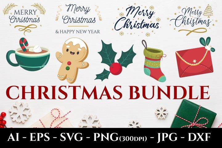 Merry Christmas SVG Bundle, Merry Christmas Sublimation